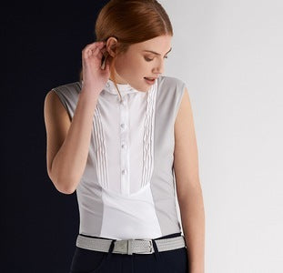 Cavalleria Toscana Technical Sleeveless Shirt with Bib