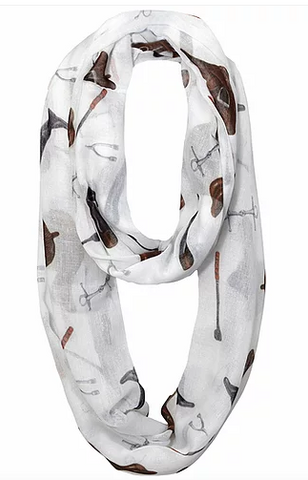 """Lila"" English Gear Infinity Scarf"