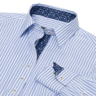 Essex Dora Bengal Blue Stripe Tailored Shirt