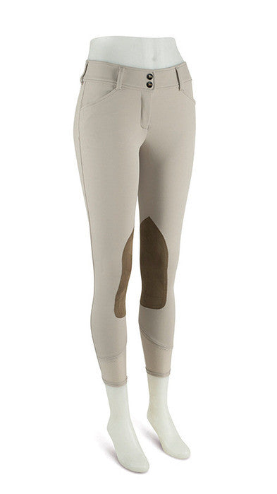 RJ Classics Ladies Gulf-Low Rise Front Zip Kneepatch Breech