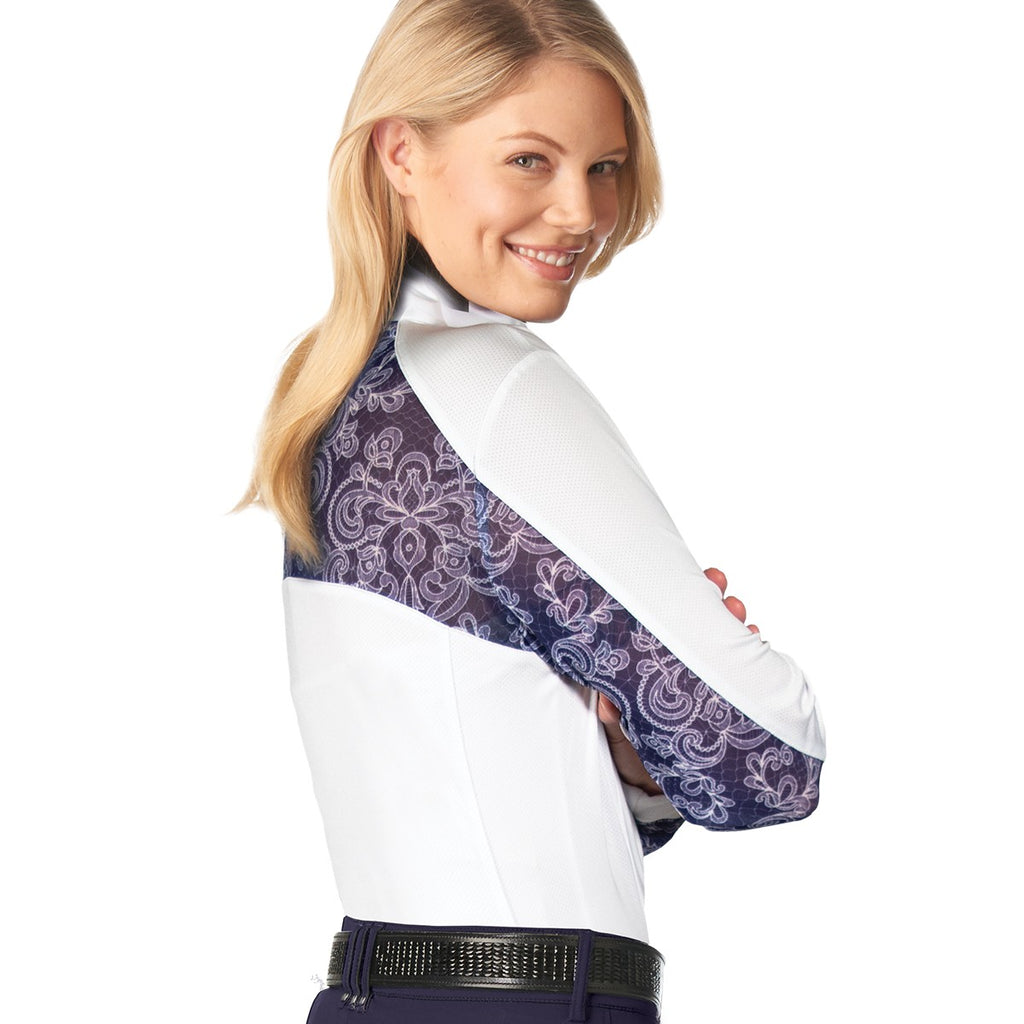 Lace Dressage Show Shirt- Long Sleeve