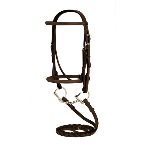 Silverleaf Plain Raised Bridle