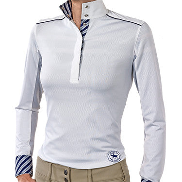 "The Essex Performance ""Sorrento"" Ladies Talent Yarn Straight Collar Show Shirt With Shoulder Piping"