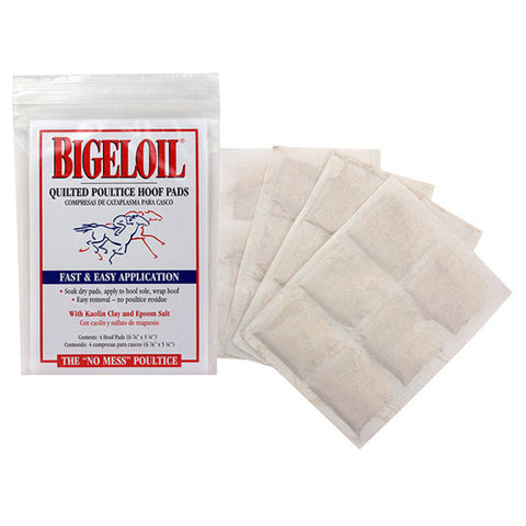 Bigeloil Quilted Poultice Hoof Pads for Horses