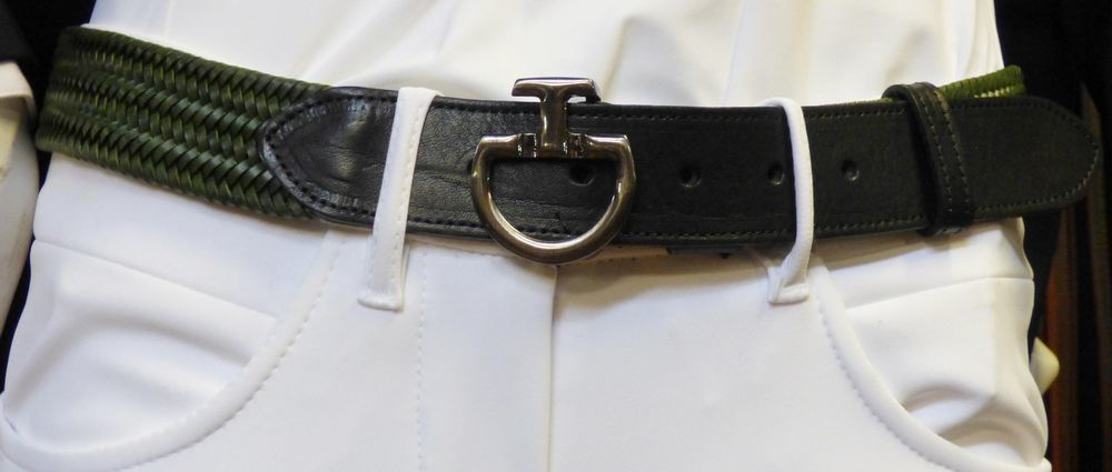 Cavalleria Toscana Men's CT Clasp Elastic Leather Belt