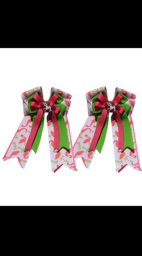 Belle & Bow Kids Show Flamingo Bows