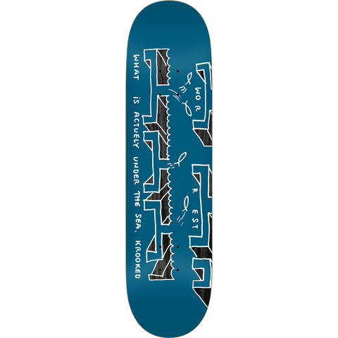 Worrest The Sea TT Slick Deck - Blue & Gold Boardshop