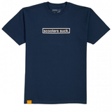 Don't Shred S/S T-Shirt - Blue & Gold Boardshop