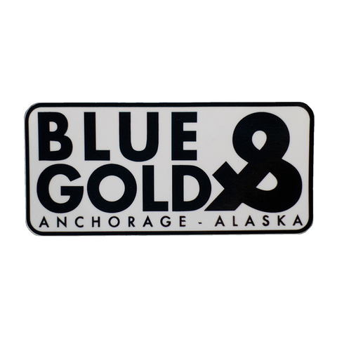 Blue & Gold Stacked Sticker LTD