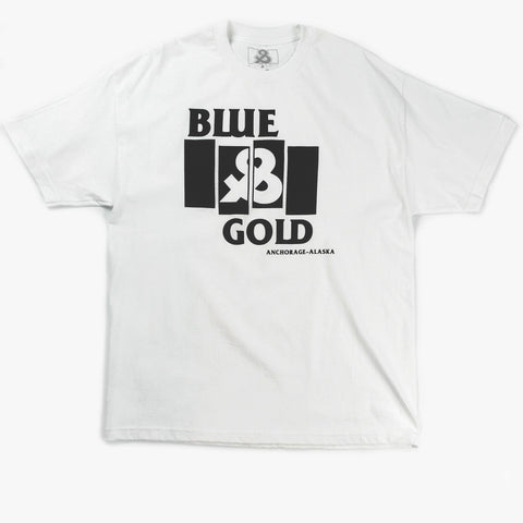 Black Flag Tee - Blue & Gold Boardshop