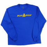 Painted Lines L/S - Blue & Gold Boardshop