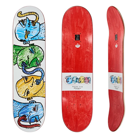 Kissing Heads Deck - Blue & Gold Boardshop