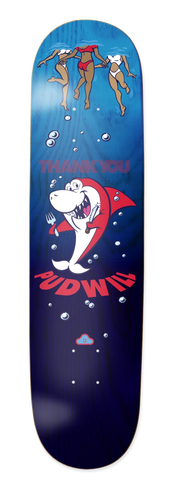 Shark Snack Torey Deck - Blue & Gold Boardshop