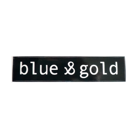 Blue & Gold Decal LTD