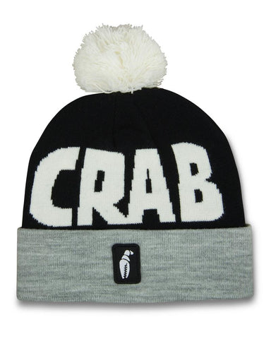 Crab Grab Pom Beanie - Blue & Gold Boardshop