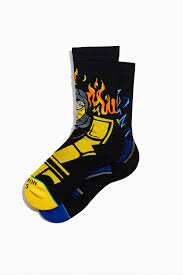 Sub Zero VS Scorpion Sock - Blue & Gold Boardshop