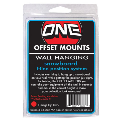 Wall Mounts-Offset Mounts - Blue & Gold Boardshop
