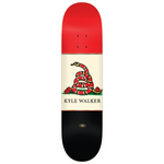 Kyle Outlaw LTD Embossed Deck - Blue & Gold Boardshop