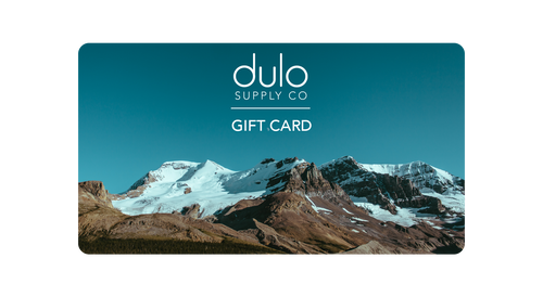dulo supply co, dulo, gift card, outdoor brand, adventure, apparel, accessories