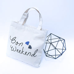 'Bon Weekend' from GAMENT Designs - 3D printed Diamonds on Tote Bag
