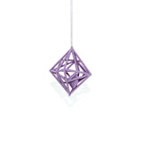 "Diamond in the Rough 3D Printed Pendant in Amethyst Purple on a 30"" Sterling Silver Chain"