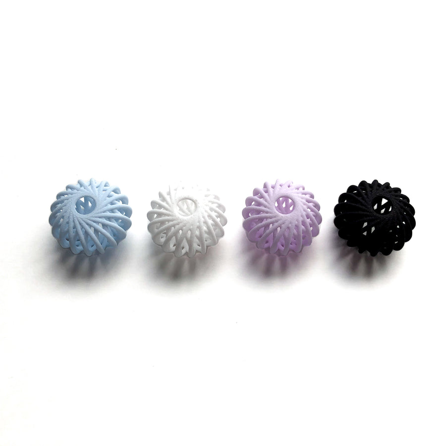 Our Centi Beads in Blue, White, Purple and Black