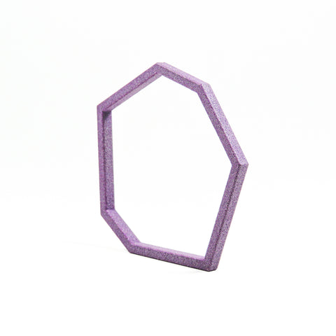 3D Printed Geometric Bangle in Amethyst Purple