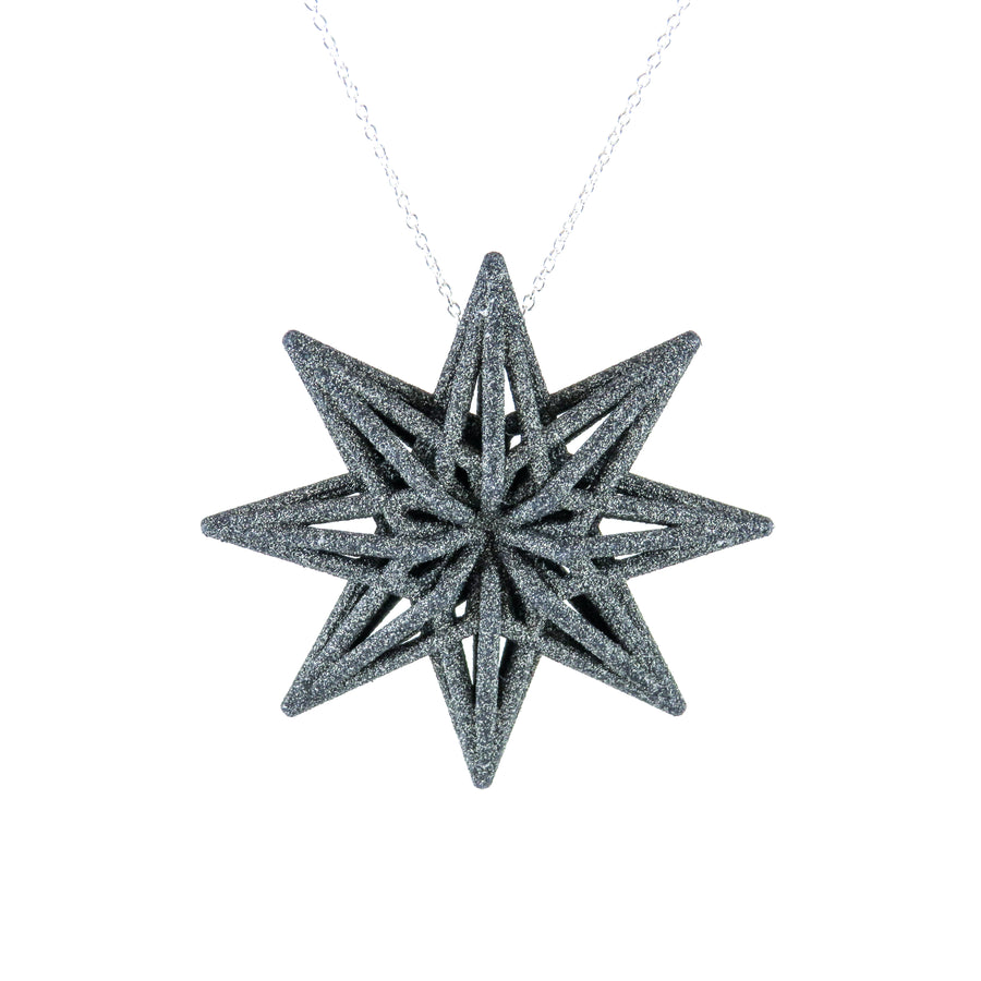 3D Printed Starburst Pendant in Carbon