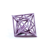 Diamond in the Rough 3D Printed Pendant in Amethyst Purple