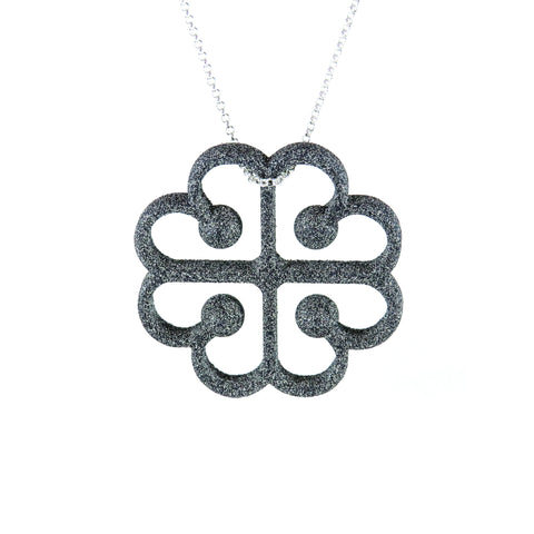 Love from Montreal Pendant in Carbon Black