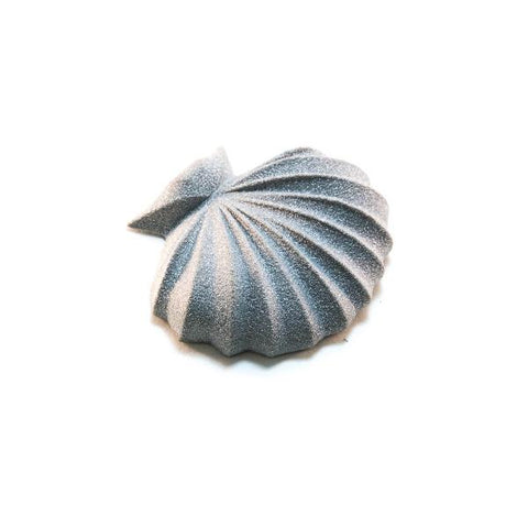 GAMENT Sea Shell Magnetic Brooch in Silver