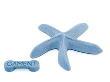 GAMENT 3D Printed Starfish Magnetic Brooch in Teal with Backing