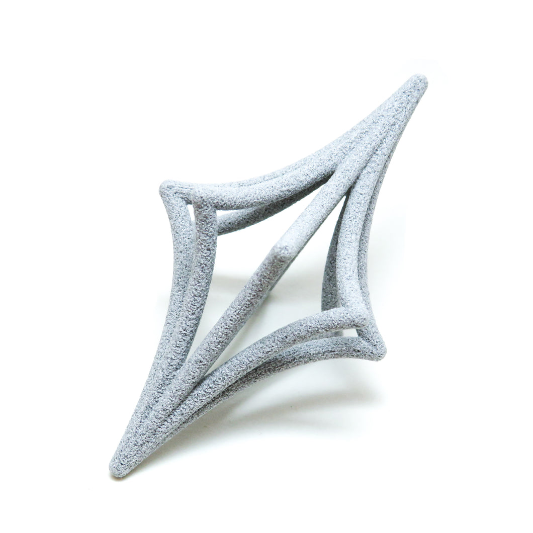 Starbright 3D Printed Pendant in Slate