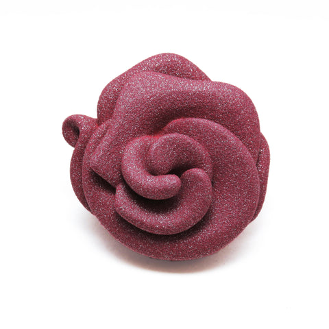 Magnetic Rosette Brooch in Ruby