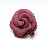 Magnetic Rose Brooch in Ruby