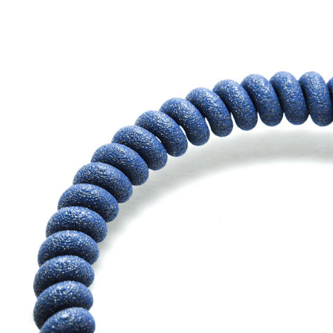 3D Printed Twist Bangle in Sapphire