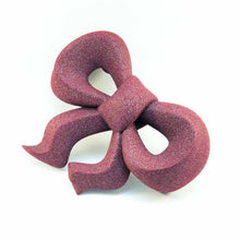 3D Printed Magnetic Bow Brooch in Red