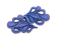 Dentelle 3D Printed Magnetic Brooches in Blue
