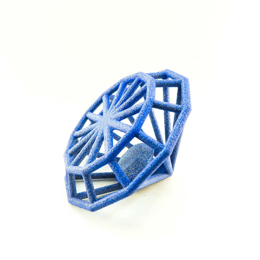 GAMENT 3D printed Gemology in Sapphire Blue