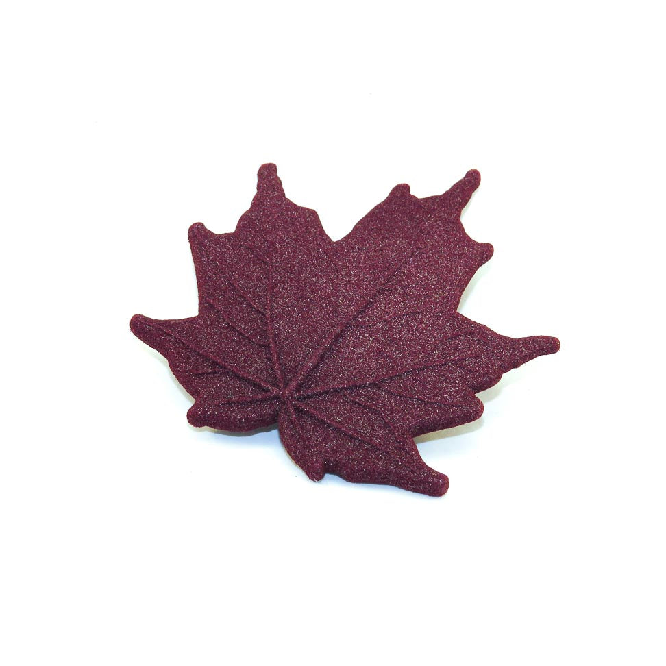 Magnetic Maple Leaf Brooch in Red