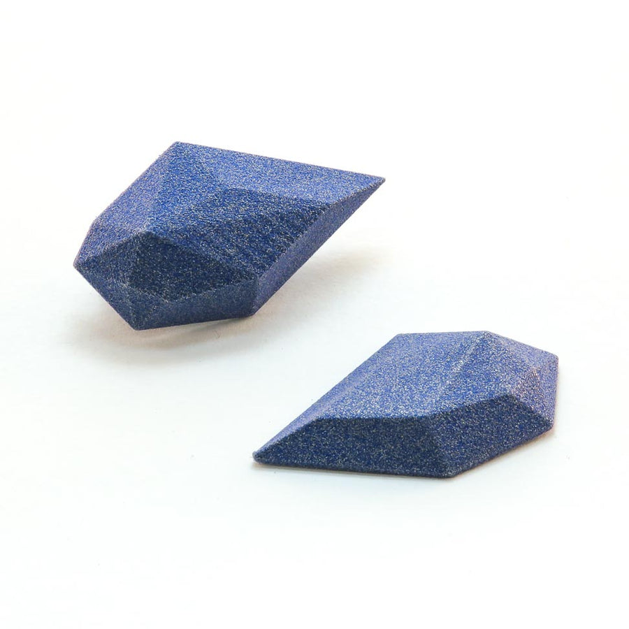 Magnetic Rock Brooches in Blue