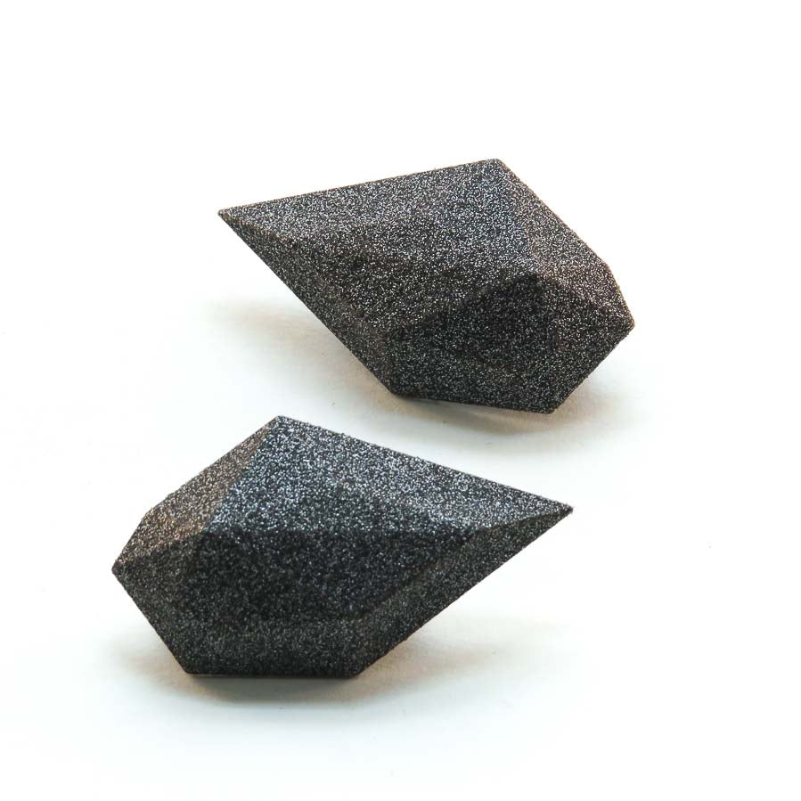 Magnetic Rock Brooches in Black