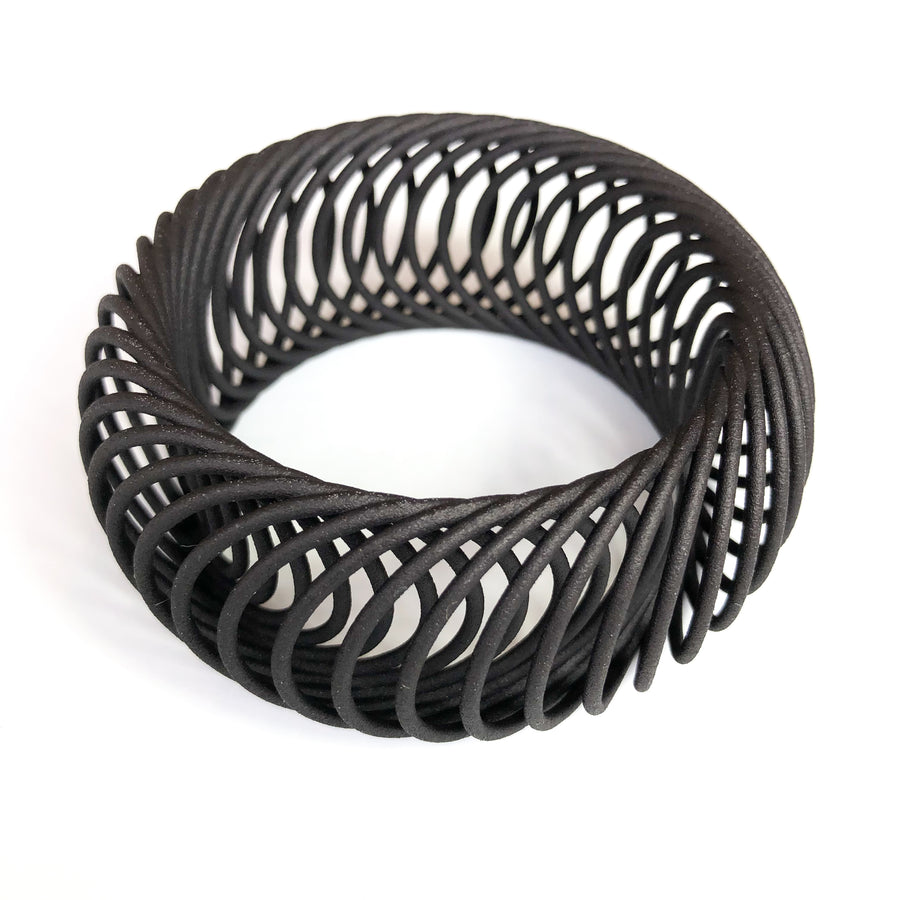 Milli Bangle 3D Printed in Carbon Black