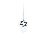 Carbon Black Mini Puzzle Pendant