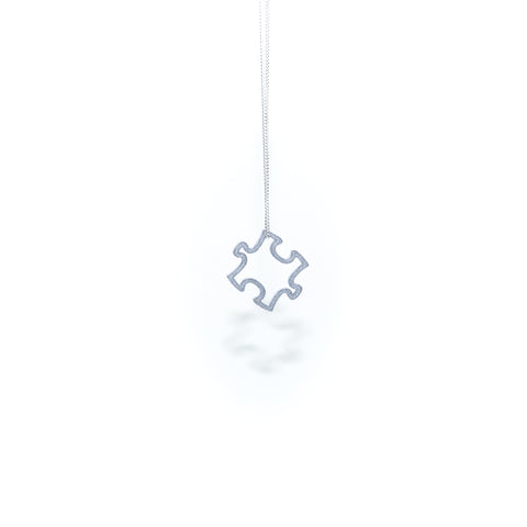 Mini Puzzle Pendant in Slate Grey