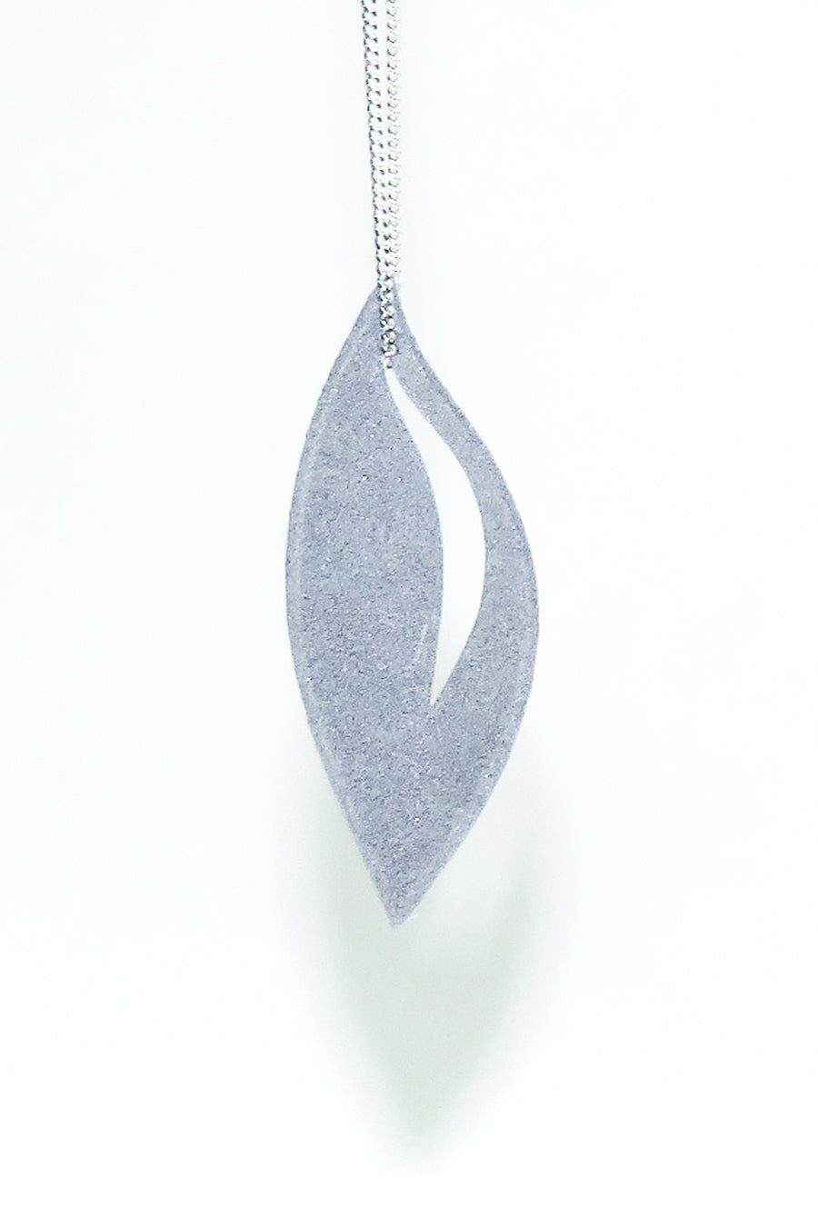 3D Printed Olive Slate Grey Pendant on a Sterling Silver Chain