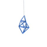 On a Silver Chain our 3D Printed Prism Pendant, 3D Printed in Alumide