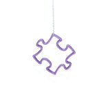 3D Printed Puzzle Pendant in Amethyst Purple