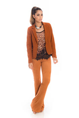 Blazer Body Fit Caramelo - Griffe.Z