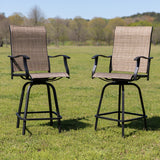 "30"" All-Weather Patio Swivel Outdoor Stools, Set of 2"